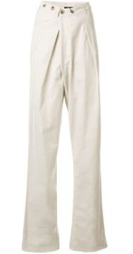 High Waisted Tapered Trousers - Bassike