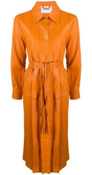 Faux Leather Trench Coat - House Of Sunny