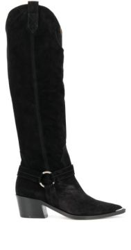 Textured Knee-length Boots - Via Roma 15