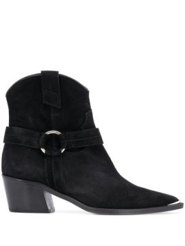Pointed Toe Block Heel Ankle Boots - Via Roma 15
