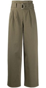 D-ring Belted Trousers - Ganni