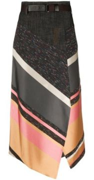 Asymmetric Patchwork Skirt - Dorothee Schumacher