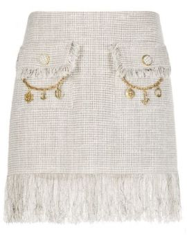 Fringed Tweed Skirt - Elisabetta Franchi