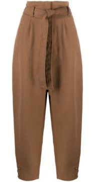 High-waisted Belted Trousers - Alberta Ferretti