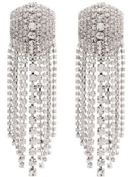 Square Cascade Crystal Earrings - Alessandra Rich
