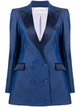 Double-breasted Fitted Blazer - Hebe Studio