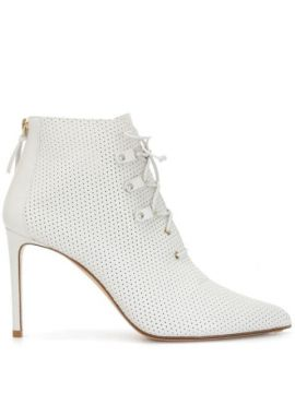100mm Lace-up Ankle Boots - Francesco Russo