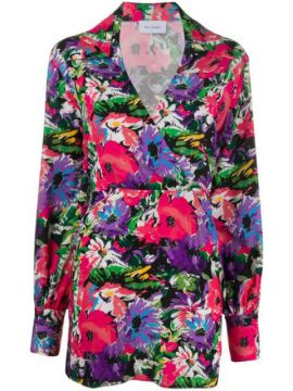 Floral Print Wrap Dress - Art Dealer