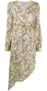 Floral Print Silk Dress - Art Dealer