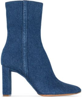 Ankle Boot Jeans Com Salto 100mm - Y/project