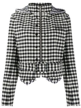 Cropped Checkered Jacket - Courrèges