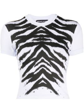 Zebra-print Cropped T-shirt - Versace Jeans Couture