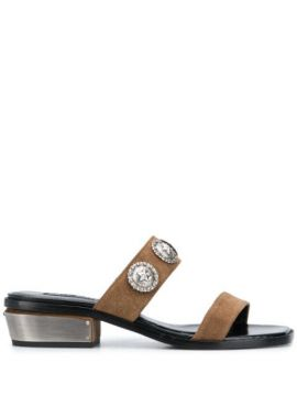 Two Stap Studded Sandals - Kate Cate