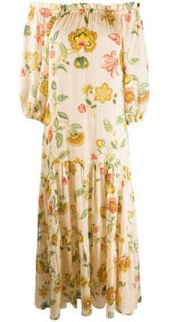 Floral-print Off-the-shoulder Dress - Anjuna