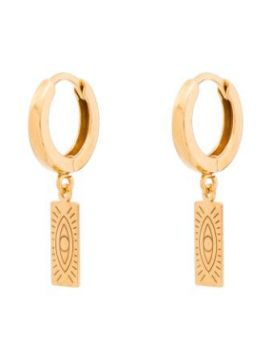 Delian Huggie Charm Earrings - Hermina Athens