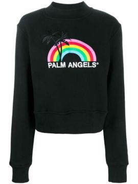 Moletom Rainbow Decote Careca - Palm Angels