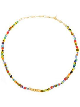 18kt Gold-plated Alaia Beaded Necklace - Anni Lu