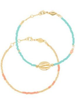 Wave Chaser 18kt Gold-plated Bracelet Set - Anni Lu