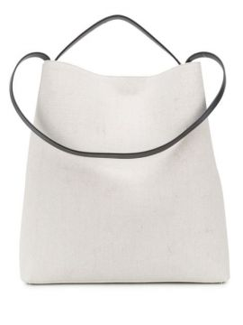 Large Contrast Strap Tote Bag - Aesther Ekme