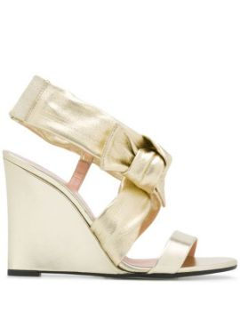 Bow Detail Wedge Heel Sandals - Pollini