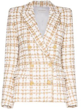 Blazer De Tweed Com Abotoamento Duplo - Faith Connexion