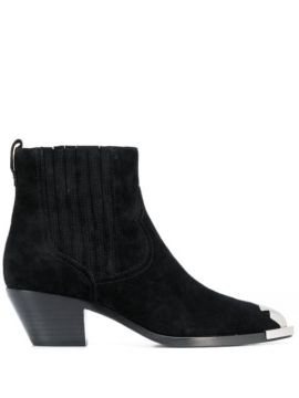 Cowboy Style Ankle Boots - Ash