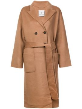 Belted Double-breasted Coat - Anine Bing