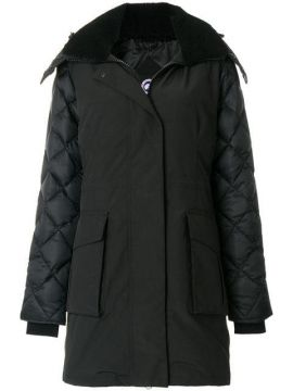 Shearling Lined Hooded Coat - Canada Goose
