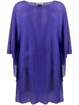 Sheer Floaty Style Tunic Top - Fisico