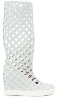 Checked Laser Cut Boots - Casadei