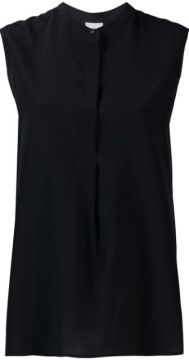 Sleeveless Mandarin Collar Shirt - Aspesi
