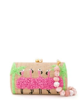 Bolsa Clutch Flamingo Bordado - Serpui