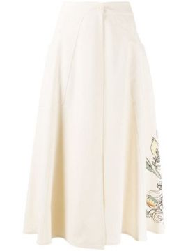 Embroidered Floral Skirt - Alysi