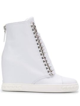 Lace Up Wedge Boots - Casadei