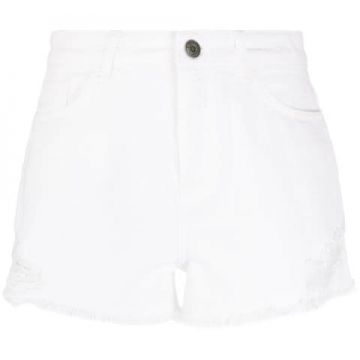 Short Jeans Com Efeito Destroyed - Twin-set