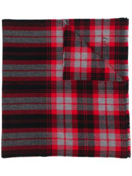 Oversized Checked Scarf - Mulberry