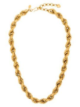 Spiral Staircase 24kt Gold-plated Necklace - Brinker & Eliza