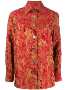 Floral Embroidered Shirt - Alberto Biani