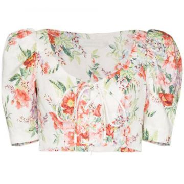 Blusa Cropped Bellitude - Zimmermann