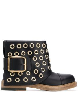 Ankle Boot Com Ilhoses - Alexander Mcqueen