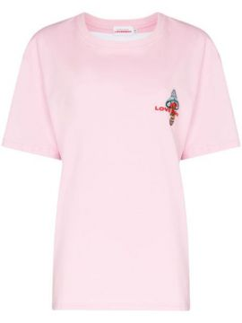 Art Gallery Embroidered T-shirt - Charles Jeffrey Loverboy