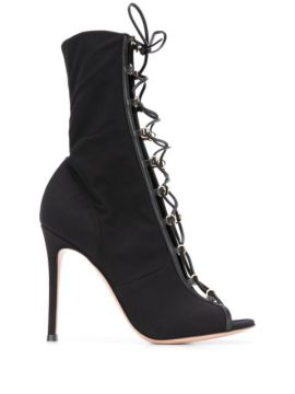 Open Toe Lace-up Boots - Gianvito Rossi