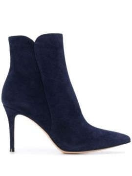 Ankle Boot Levy Com Salto 85mm - Gianvito Rossi