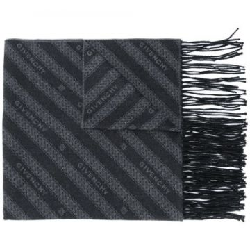 All-over Logo Fringed Scarf - Givenchy