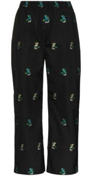 Amber Cropped Floral-embroidered Trousers - Cecilie Bahnsen