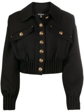Cropped Jacket - Balmain