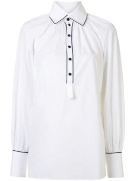 Poplin Gathered Shirt - Dice Kayek