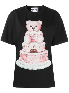 Camiseta Com Estampa De Bolo Toy Teddy - Moschino