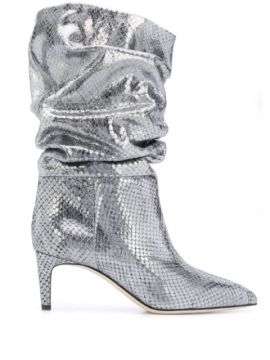 Snake-effect Ankle Boots - Paris Texas