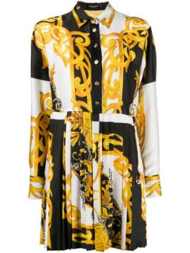 Baroque-print Shirt Dress - Versace